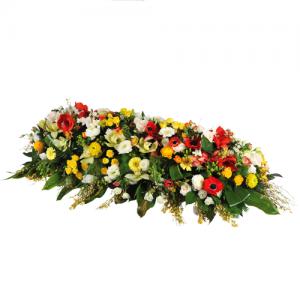 livraison coussin et gerbe de fleurs