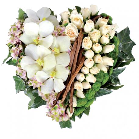 deuil arrangement floral