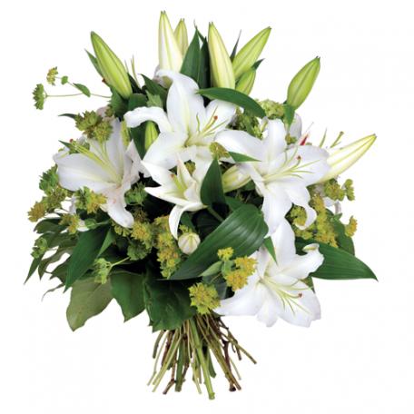 bouquet de lys blanc