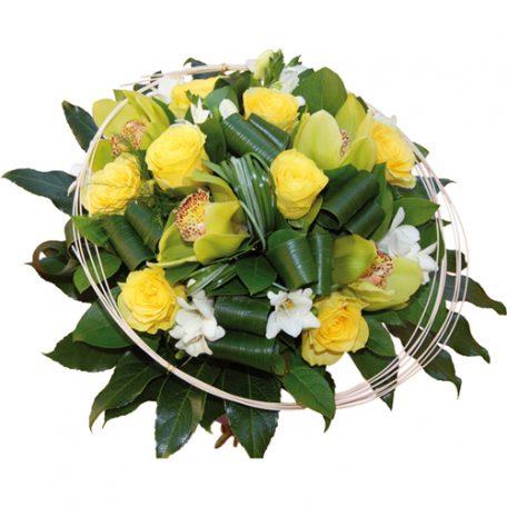 bouuqet de fleurs jaune et blanc